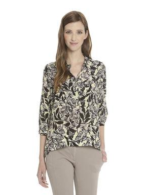 Camicia in seta stampata