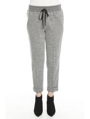 Pantaloni in jersey tinto filo
