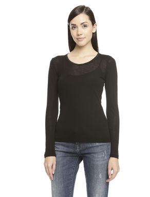 T-shirt in misto lana