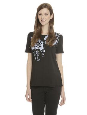 T-shirt con stampa a fantasia