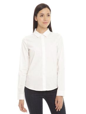 Camicia con pannello in jersey