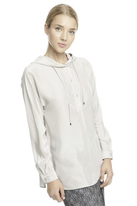 Camicia con cappuccio in seta