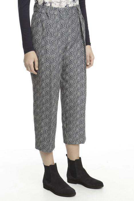 Pantalone cropped goffrato