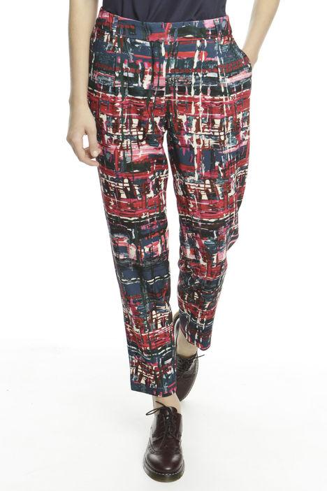 Pantalone in sablè stampato