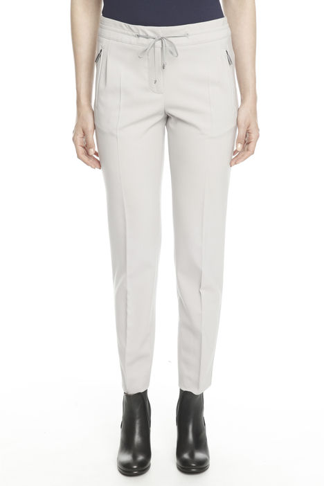 Pantaloni in gabardina lana