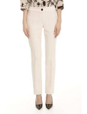 Pantaloni in crepe stretch