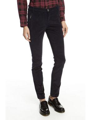 Pantalone skinny in velluto
