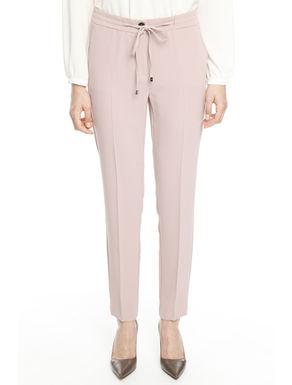 Pantaloni in crepe sablè