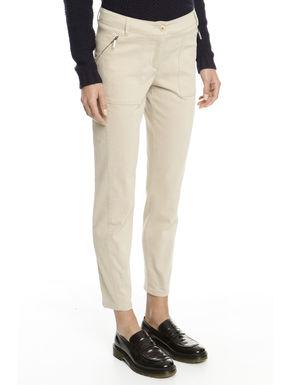 Pantalone in cotone smerigliato