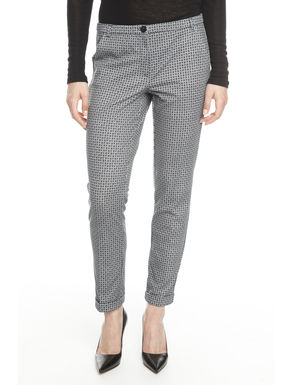 Pantaloni in jersey stampato