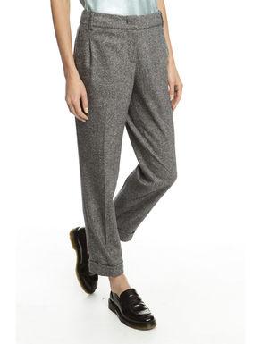 Pantalone in lana tinto filo