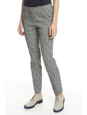 Pantalone effetto tweed