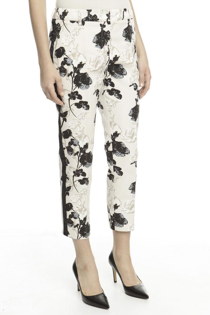Pantalone in faille stampato