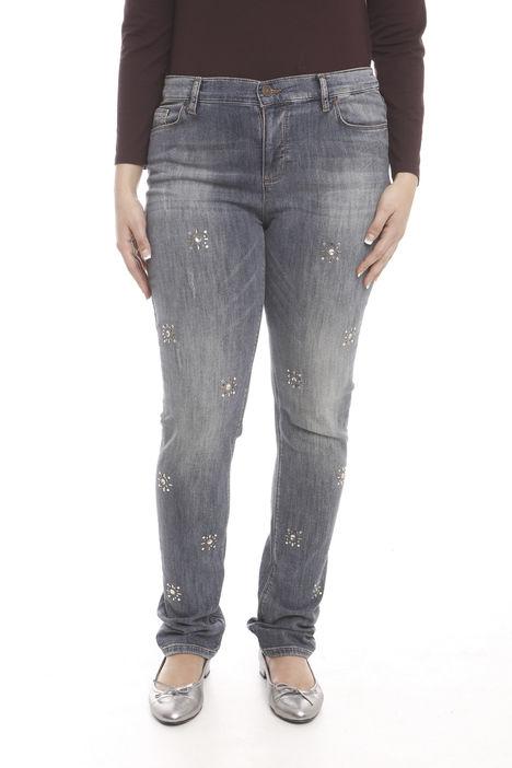 Pantaloni in denim con jais