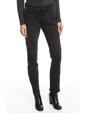 Pantalone in denim trattato