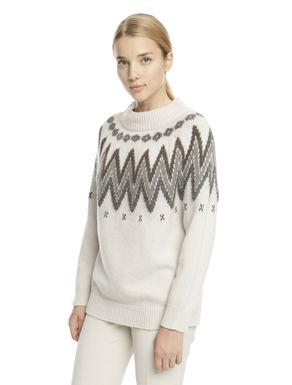 Pullover con disegno norvegese