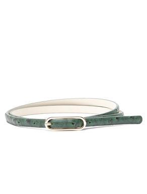 Cintura stampa struzzo