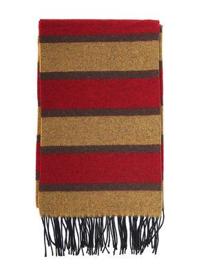 Sciarpa a righe misto lana