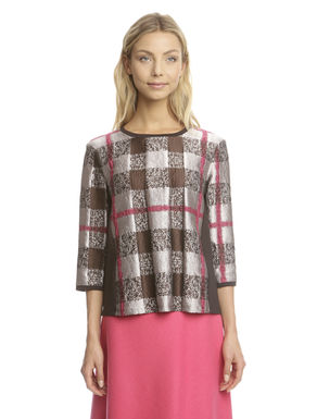 Top in jacquard e jersey