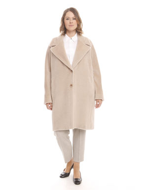 Cappotto in lana e alpaca
