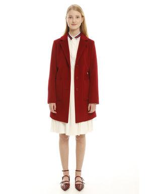 Cappotto dritto in pura lana