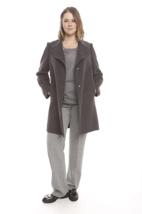 Cappotto in lana e angora
