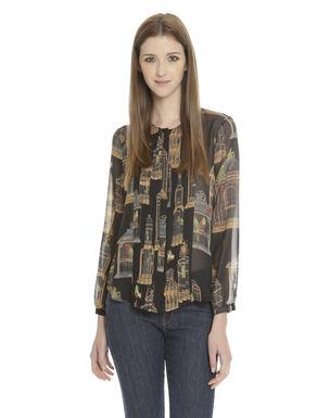 Camicia in georgette di seta