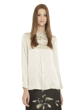 Camicia in raso di seta