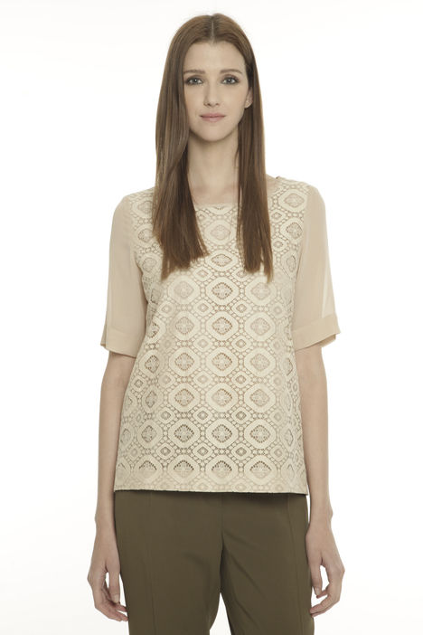 Casacca boxy in pizzo