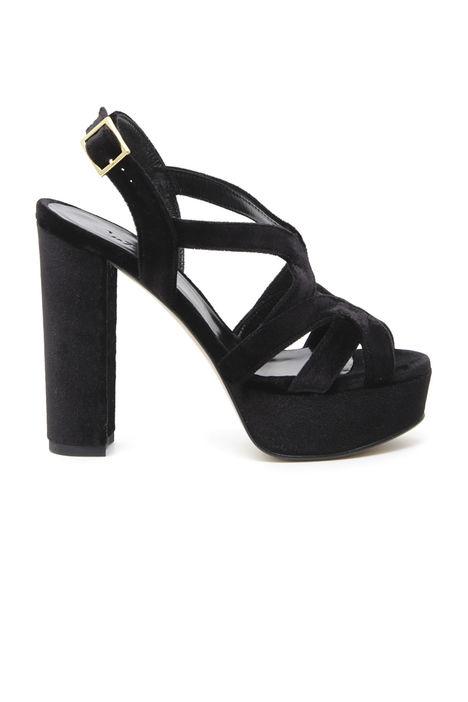 Sandali in velluto