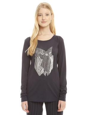 T-shirt in puro cotone glitter