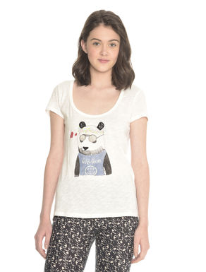 T-shirt con stampa animali