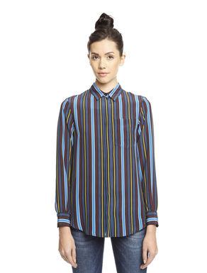 Camicia in pura seta stampata