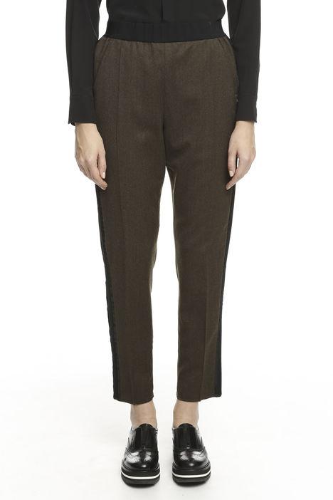 Pantalone in flanella di lana