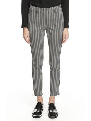 Pantalone con disegno chevron