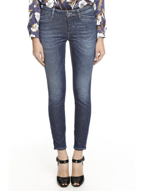 Pantalone in denim in trama