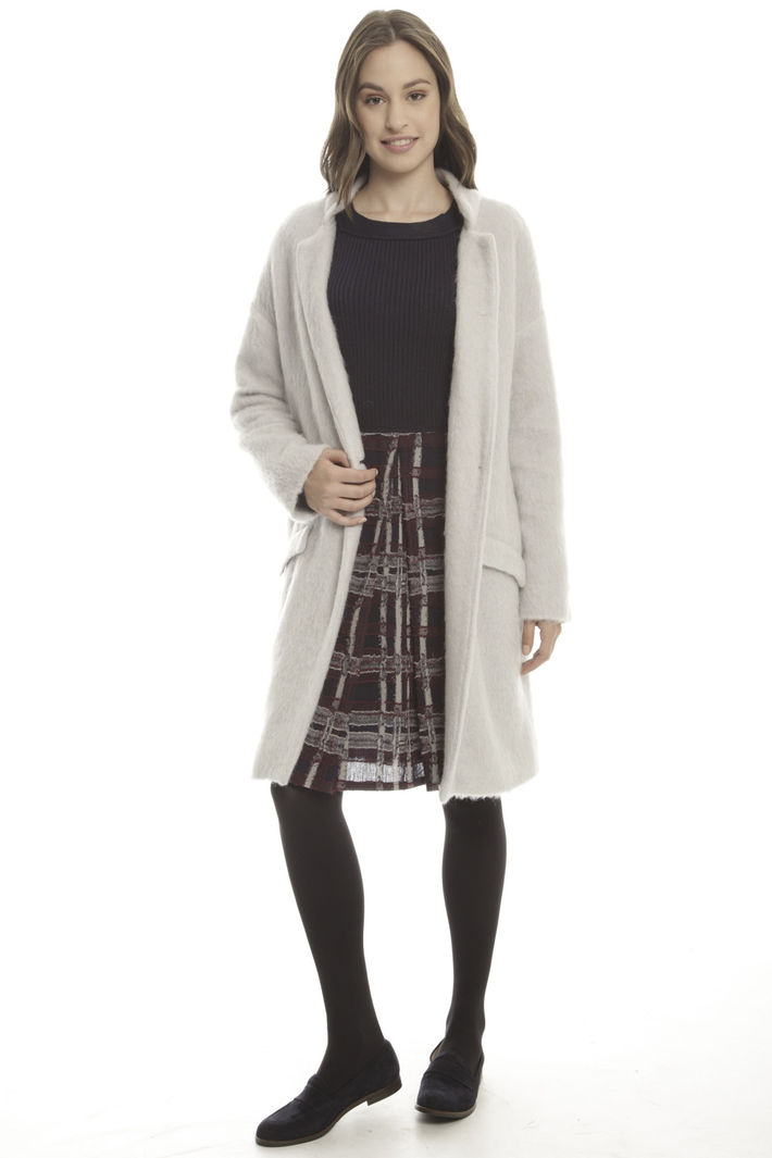 Cappotto in jersey di mohair