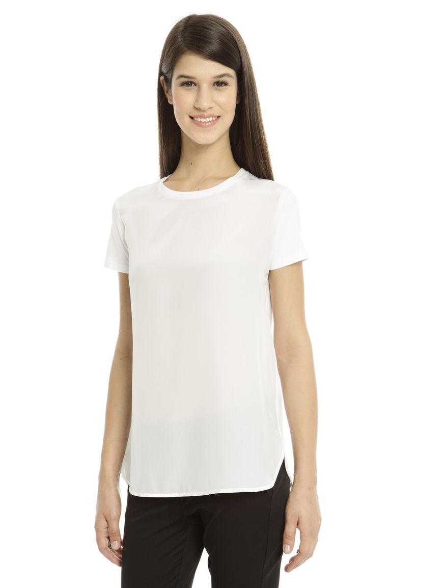 T-shirt in cotone e seta