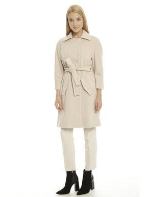 Cappotto in drap di pura lana