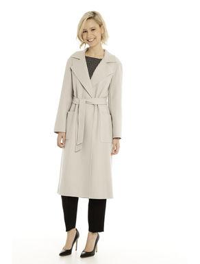 Cappotto in diagonale di lana