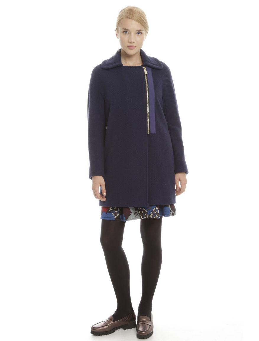 Cappotto in lana a rilievo