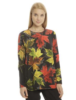 Casacca con stampa foglie