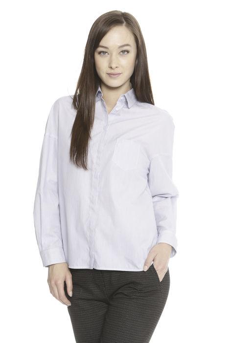 Camicia in popeline tinto filo