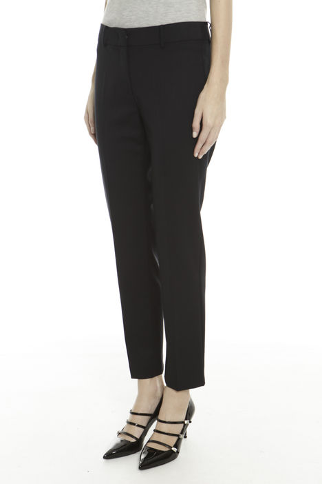 Pantaloni in diagonale di lana