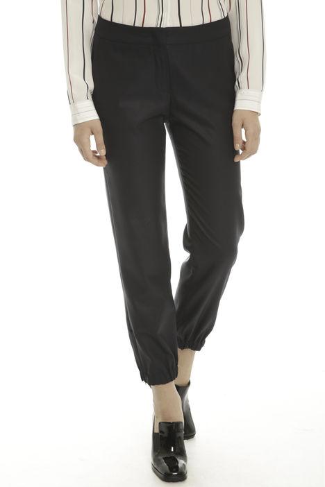 Pantalone in misto lana e seta