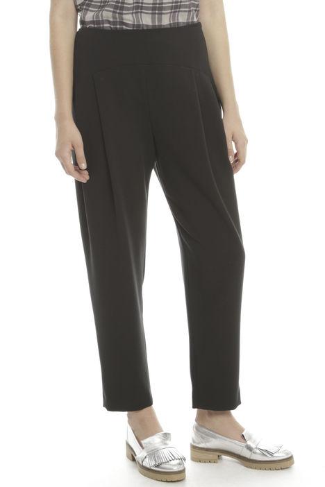 Pantalone in viscosa a pieghe