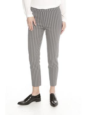 Pantaloni piatti jacquard