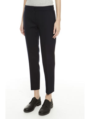 Pantalone in diagonale di lana