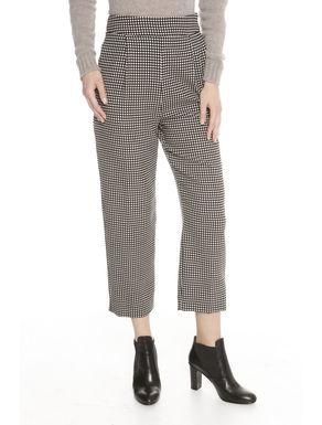 Pantaloni ampi misto lana