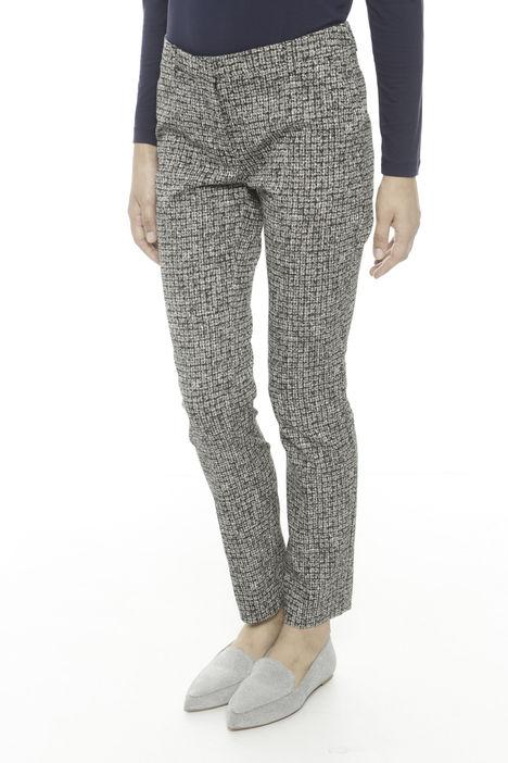 Pantaloni jacquard in cotone